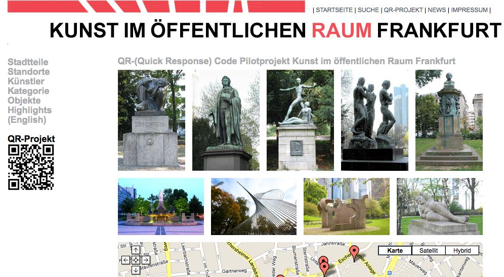 Qr Code Projekt Kunst Im Loffentlichen Raum Frankfurt Deutsches Museum Kunst Qr Code
