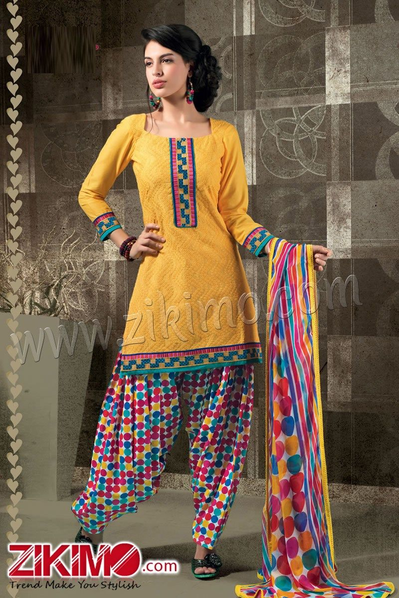 Newfangled Yellow Punjabi Patiala Salwar Suit | Summer Suits ...