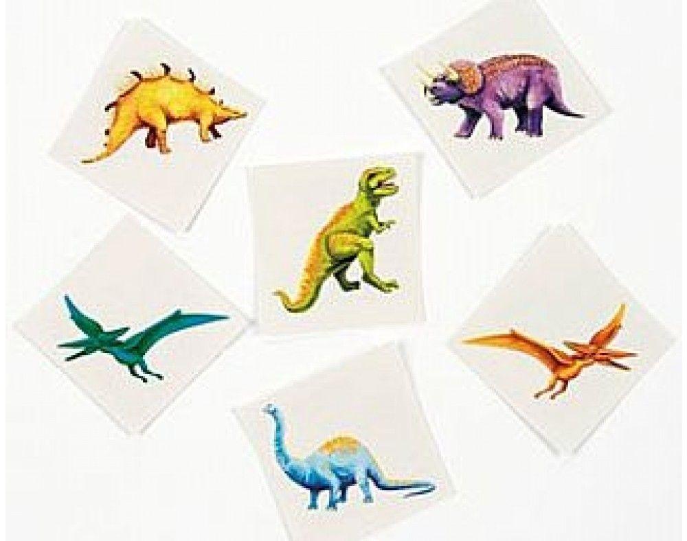 36 Dinosaur Childrens Temporary Tattoos