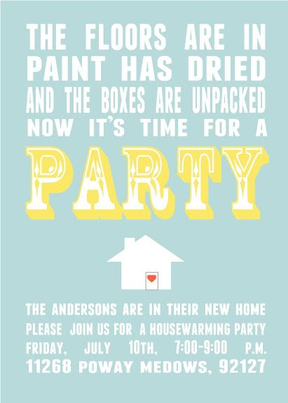 Housewarming Invitation Template | Parks And Pepper Housewarming Invitations Home Sweet Home House