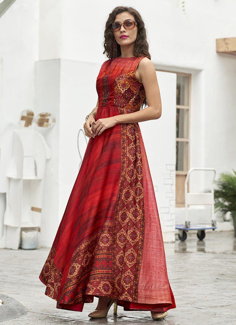 8c6d39b48e9 Buy Red Art Silk Gown online