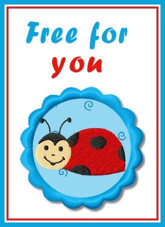 Free Lady Bug Fun Lady Bug Pinterest Lady Bugs Embroidery