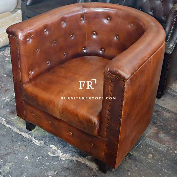 Awesome Pure Leather Tub Sofa Leather Furniture India Leather Pabps2019 Chair Design Images Pabps2019Com