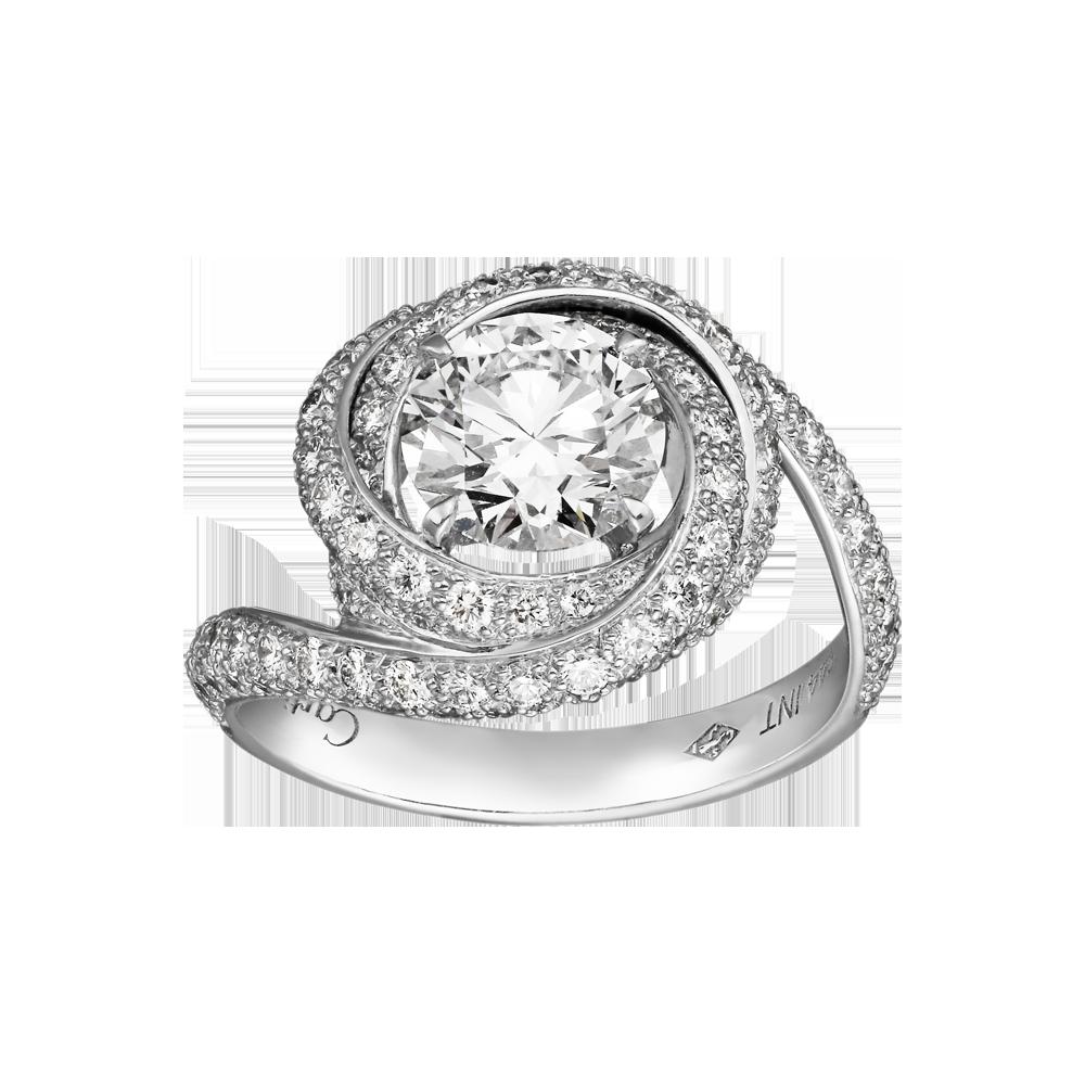 Trinity de Cartier, ring Platinum, diamonds Cartier