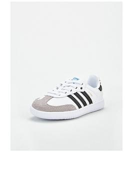 adidas black & white samba og el trainers toddler