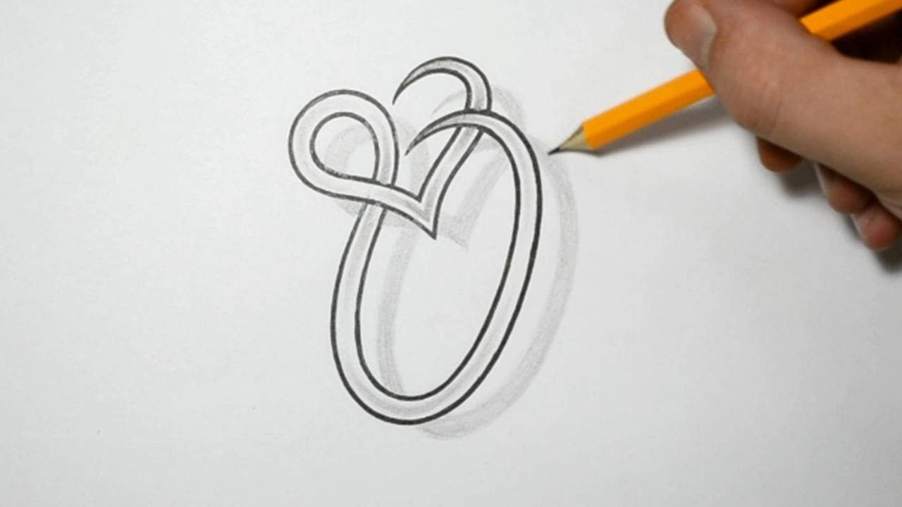 Letter O And Heart Combined Tattoo Design Ideas For Initials