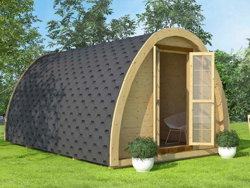 Studio, bureau de jardin - modèle igloo avec isolation intérieure ...