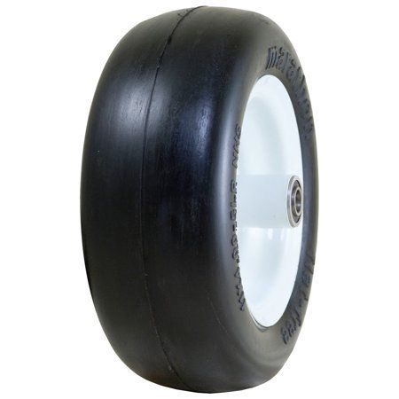 Marathon Industries 01411p 11 X 4 00 5 Inch Smooth Treat Flat Free Lawn Mower Tire Lawn Mower Tires Tires For Sale Free Tire