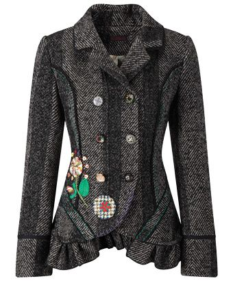Our Favourite Jacket - Celebrate your own style with our fave herringbone jacket. With funky appliqué and quirky embroidery it'll brighten up autumn. £69.95