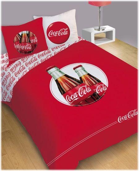 coca cola bedding cocacola coca cola pinterest le coin parure et objet publicitaire. Black Bedroom Furniture Sets. Home Design Ideas