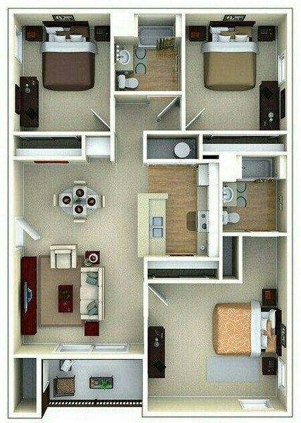55 Modern House Plan Designs Free Download 4 Sims House Plans House Layout Plans Small House Design
