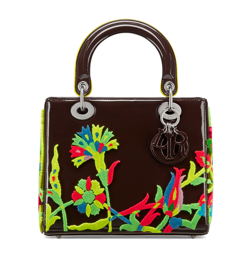 fc2f7c2aa2 Burcak Bingol designs a Lady Dior Art 3 Bag for the latest release. This  multicolored design on a rich brown bag reminds us of a technicolor 70s  room.