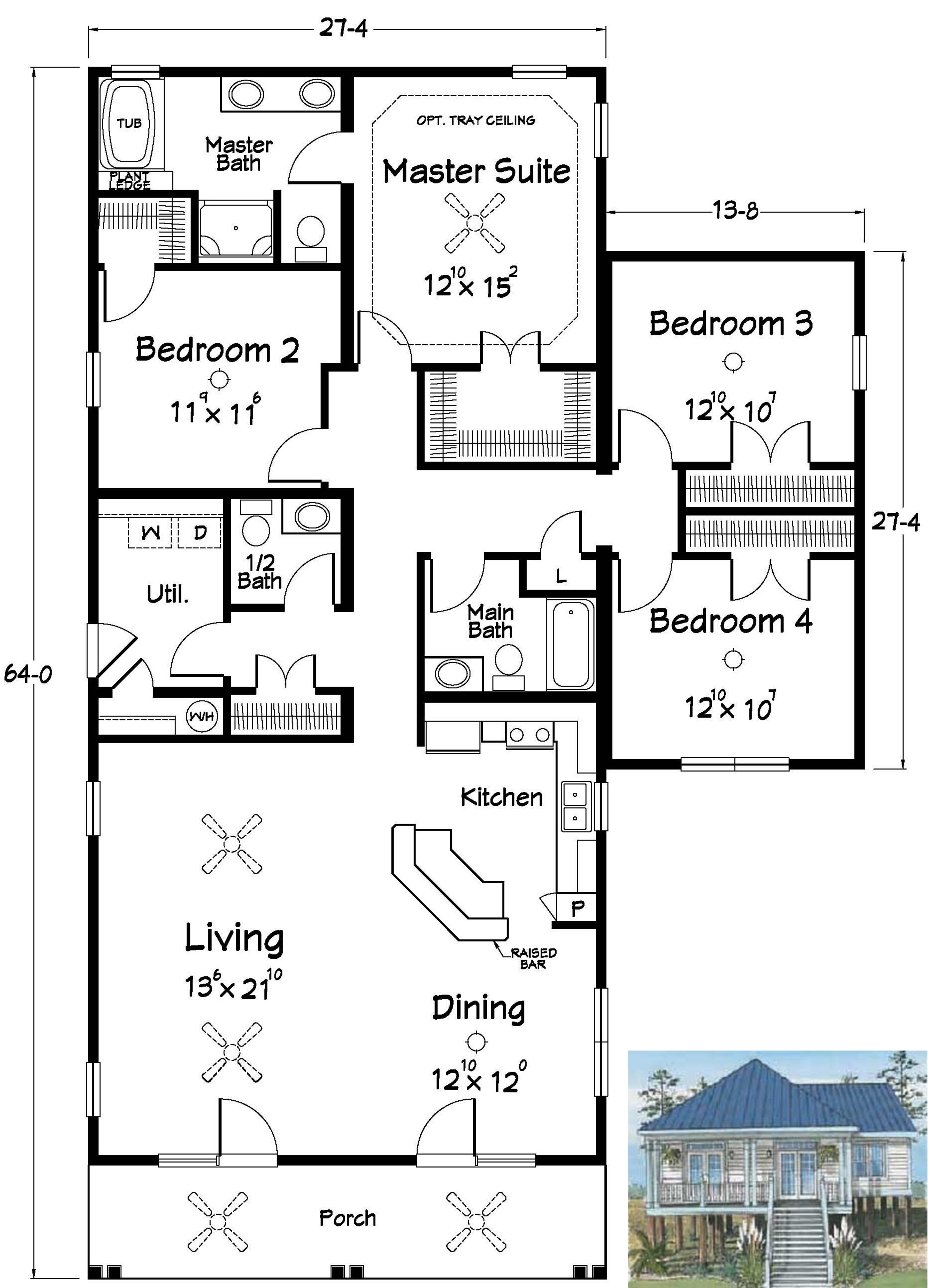 I Like The Open Kitchen Living Dining Floor Plan Add A Workout Room Sunroom At Back And Garage