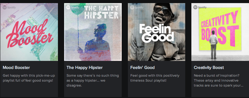 Spotify Genre station album covers
