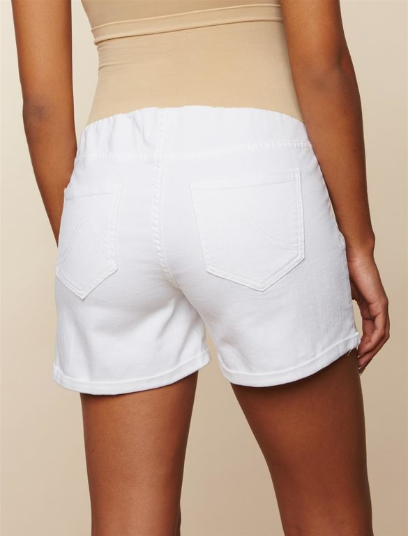 c0ac9e23efae2 Secret Fit Belly Roll Hem Maternity Shorts, White | Summer clothes ...