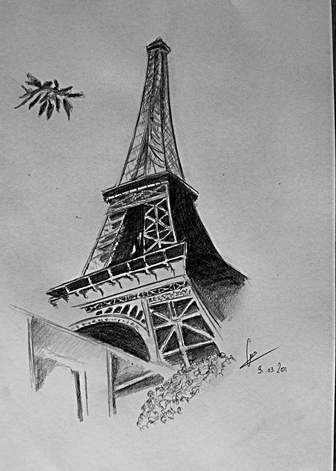 Картинки эйфелевой башни эскиз
