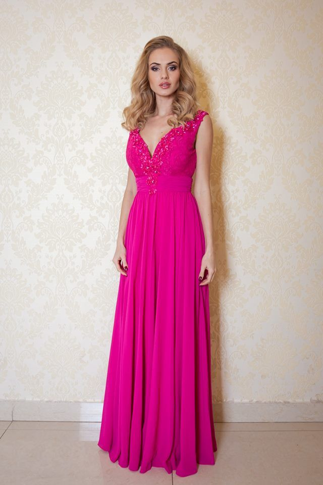 67f8755a578c Spoločenské šaty dlhé Pinki