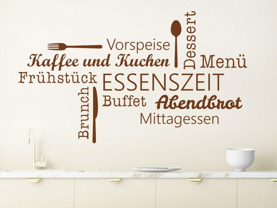 Essenszeit Wortwolke - wandtattoos küche kaffee