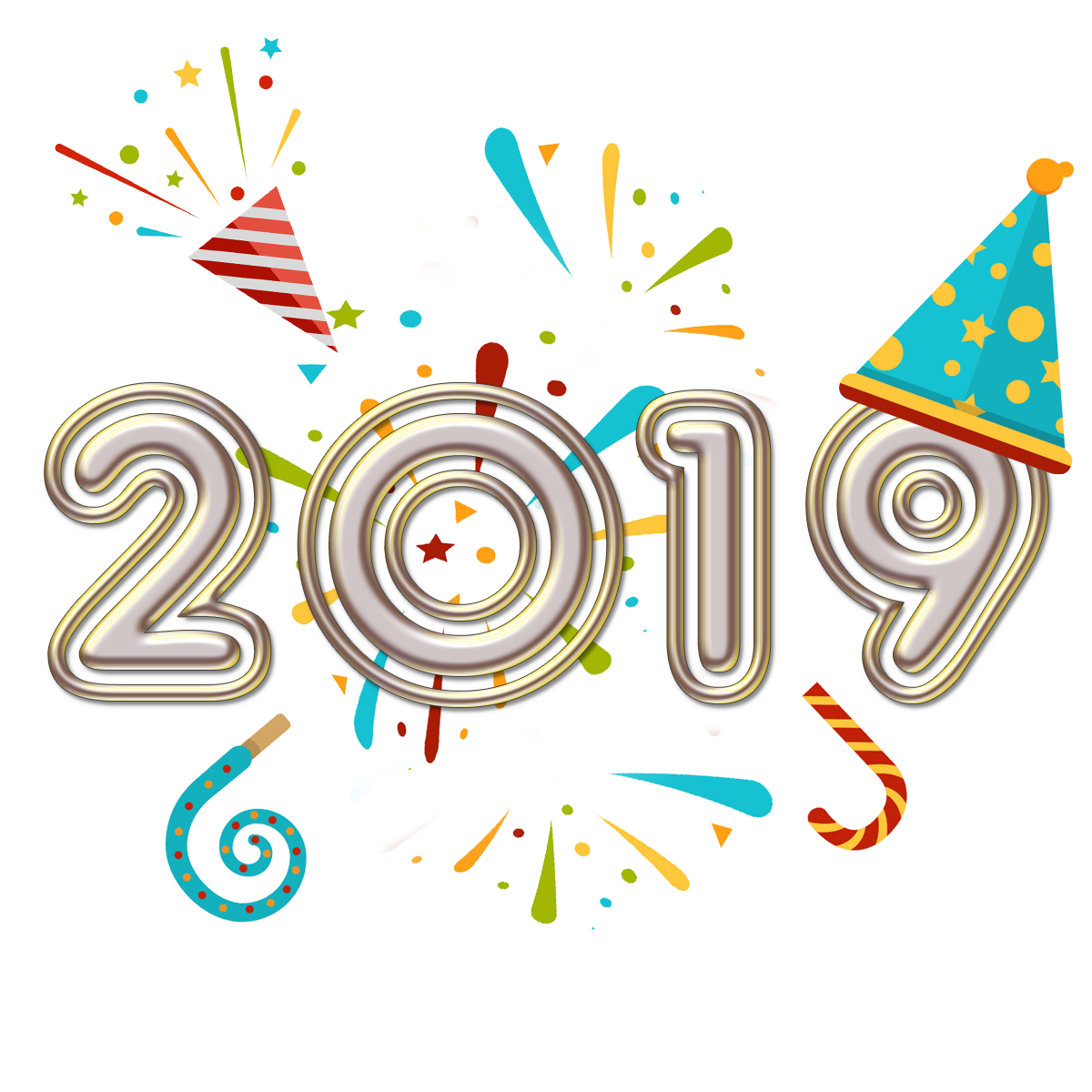 New Year Vector New Year Graphic New Year Greeting 2019 ...
