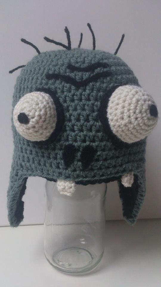 Crochet Plants Vs Zombies Zombie Hat Pattern Soon Available