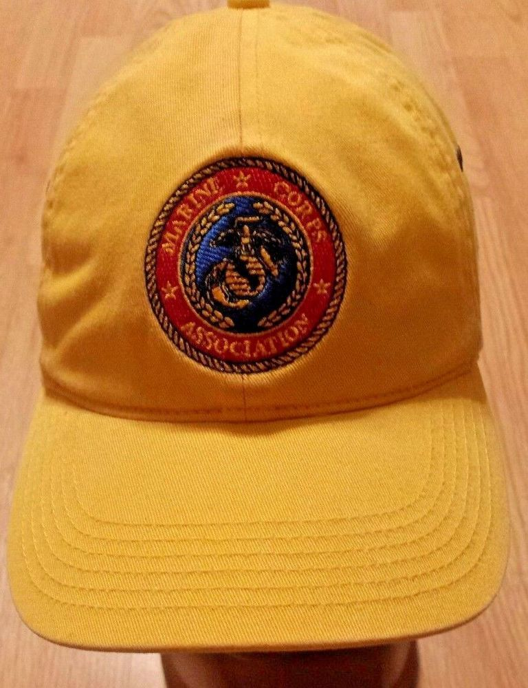 MARINE CORPS ASSOCIATION HAT yellow by Richardson Casual #fashion