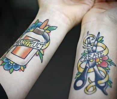 Wrist Tattoos by BlaqqCat Tattoos, via Flickr