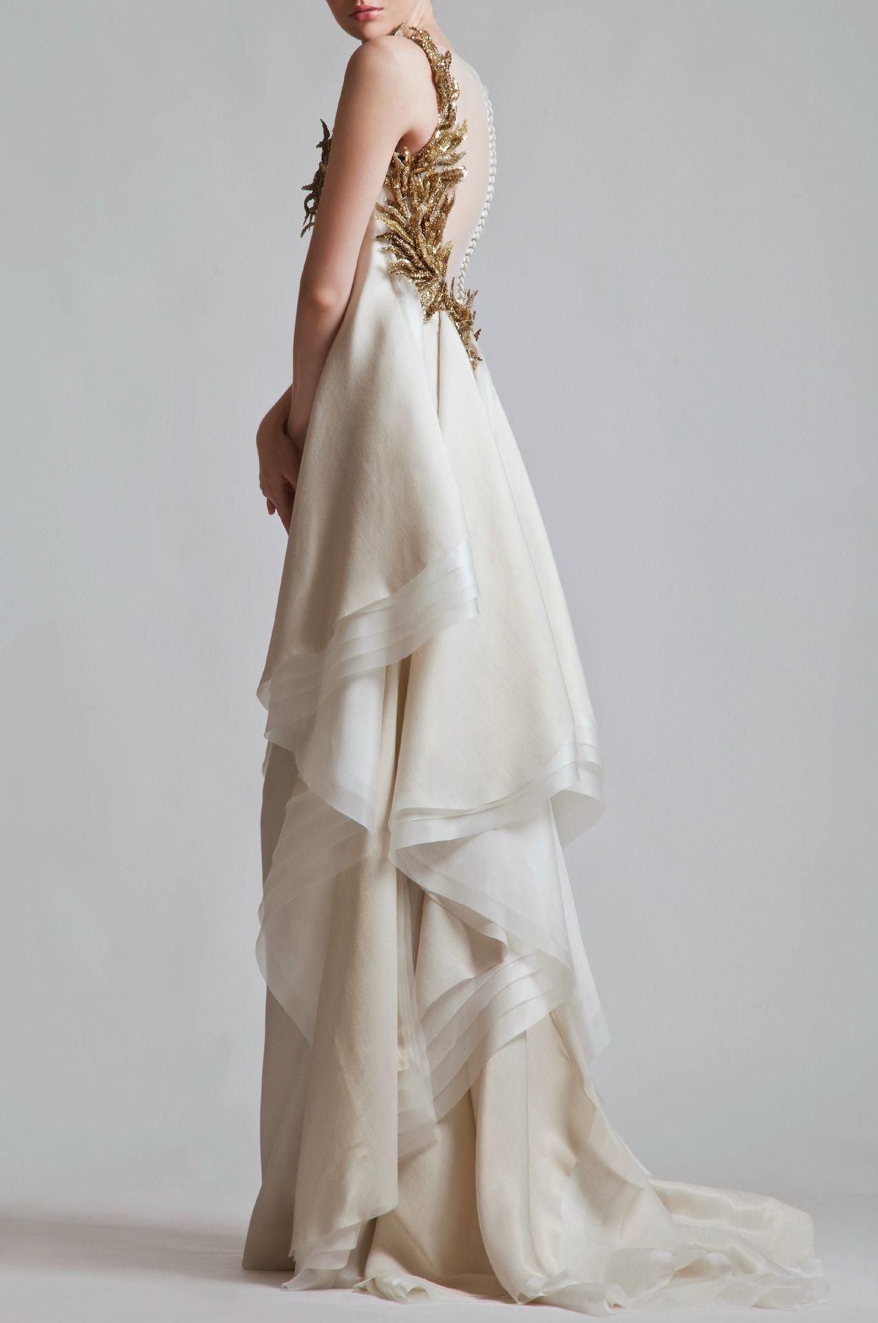 White gold wedding dress  hautekills Krikor Jabotian haute couture ss   clothes  gown