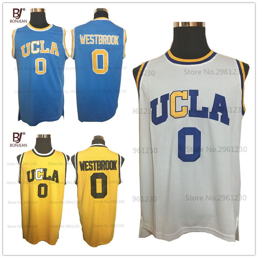 new style 8ace5 62f00 BONJEAN College Basketball Jerseys Russell Westbrook #0 UCLA ...