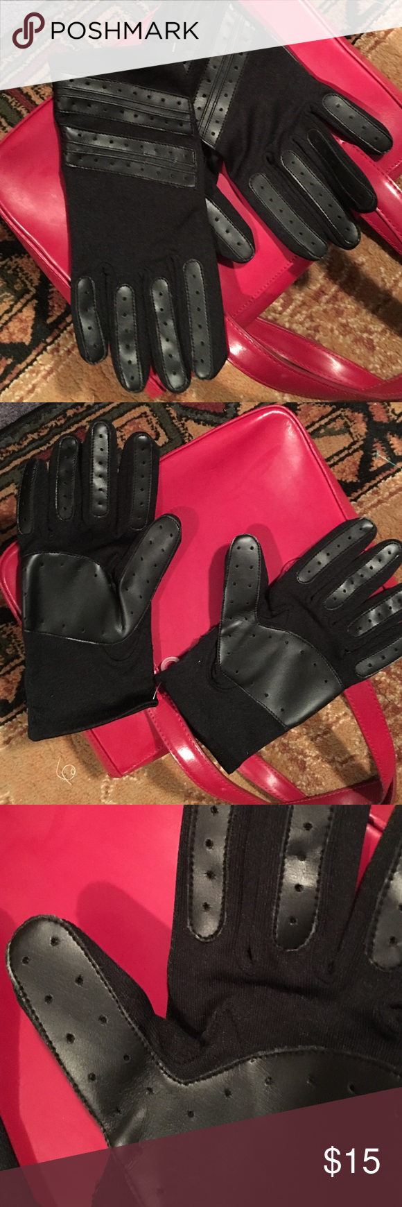 Fake leather driving gloves - Fabulous Faux Leather Gloves In Dynamite Black Beautiful Driving Gloves In Black With Faux