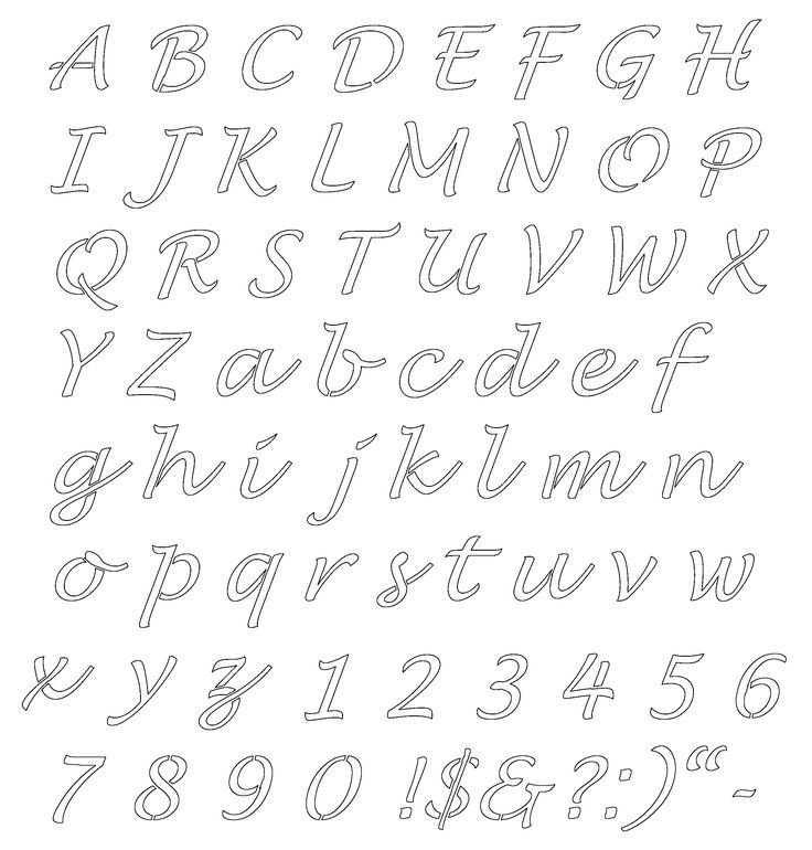image regarding Printable Calligraphy Stencils known as No cost Printable Alphabet stencils Lettering Stencils No cost