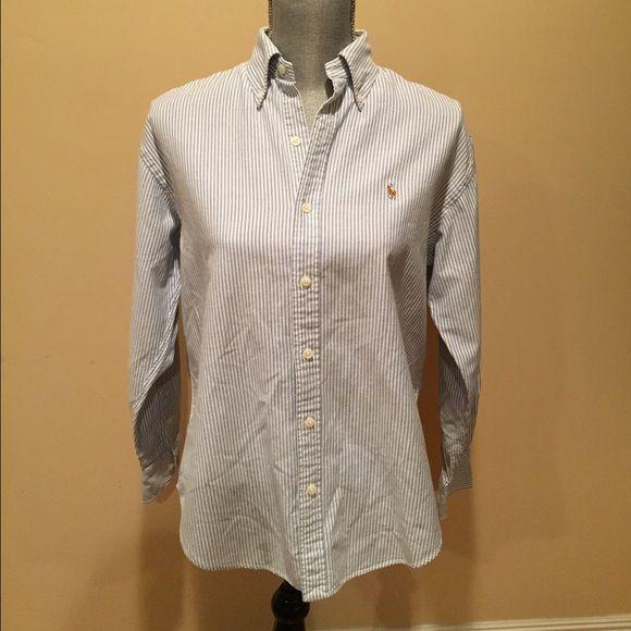 Ralph Lauren blouse Simple pinstriped long-sleeve blouse. 100% cotton Ralph Lauren Tops Button Down Shirts
