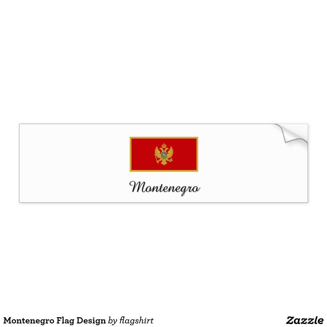 Bumper sticker design ideas - Montenegro Flag Design Car Bumper Sticker
