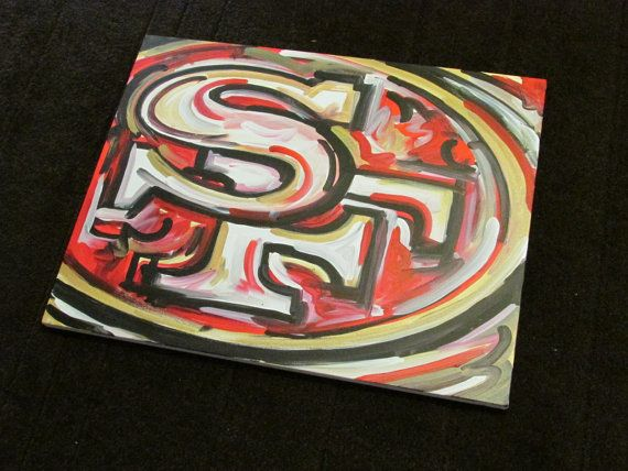 66112161b San Francisco 49ers Painting by Justin Patten Sports Art Football ...