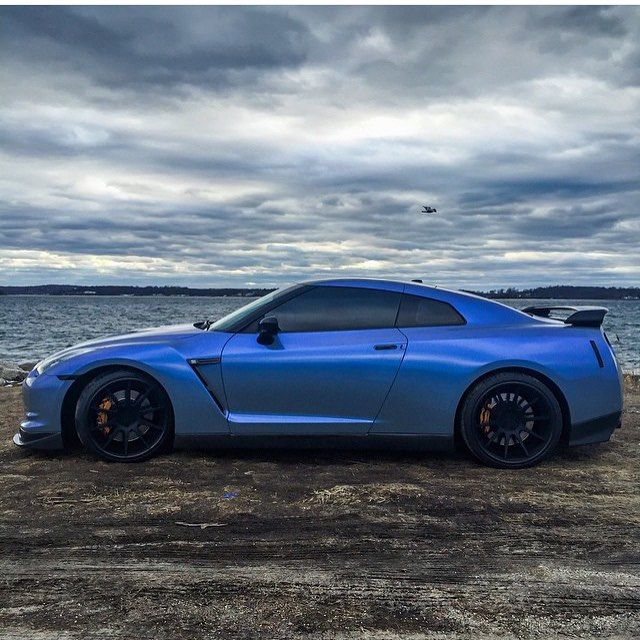 Another Nissan GT R R35 In A Nice Sleek Blue #nissan #fastcar #