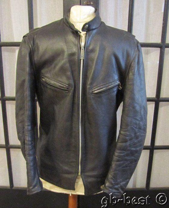 7ea80e0ea20 Vintage c 1940/50s Leather Jacket BLACK Motorcycle Talon ESKO Zipper  ROCKABILLY #Outdoor