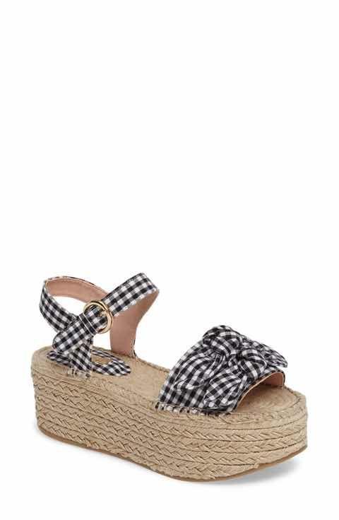 0433197a299 Topshop Wendy Gingham Platform Sandal (Women)