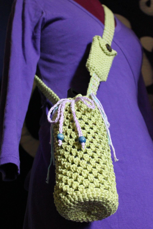 Botty bagz sage green shoulder bag with card holder reusable botty bagz sage green shoulder bag with card holder reusable water bottle carrier bankloansurffo Choice Image