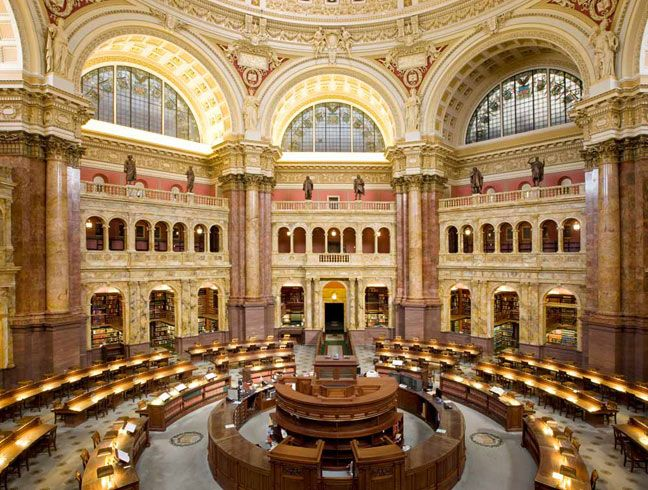 Main Reading Room At The Library Of Congress Thomas Jefferson Building Library Of Congress Beautiful Library Reading Room