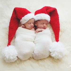 Newborn Christmas outfit - baby Christmas hat and diaper cover ...