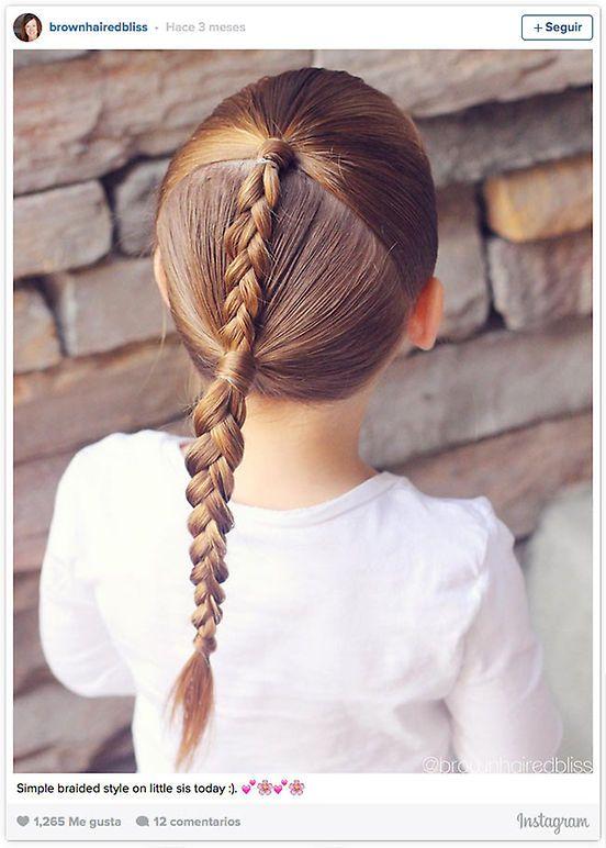 Trenzas para ninas con el cabello recogido