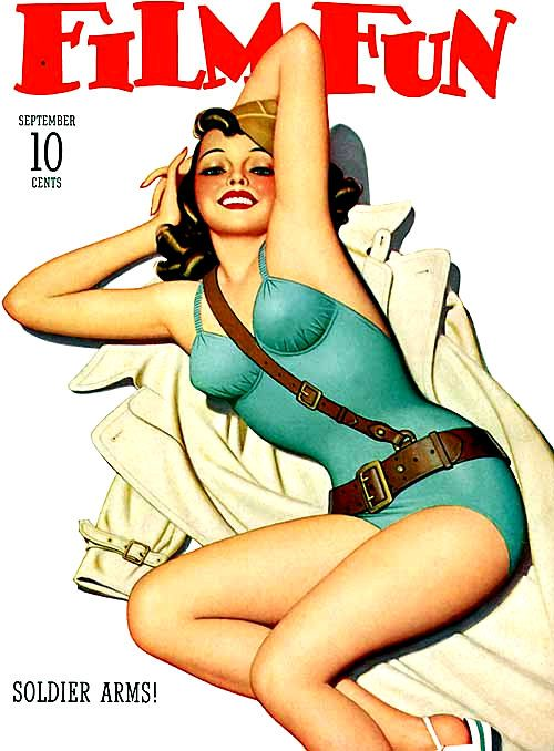 Soldier Arms! - Film Fun Pulp Fiction Magazine Cover   Film Fun Pulp ...