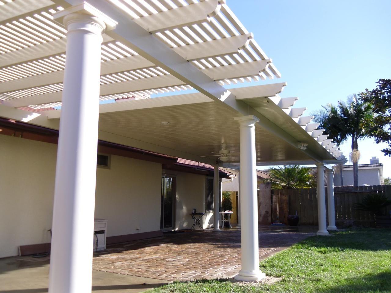 combination open lattice solid alumawood patio cover oceanside