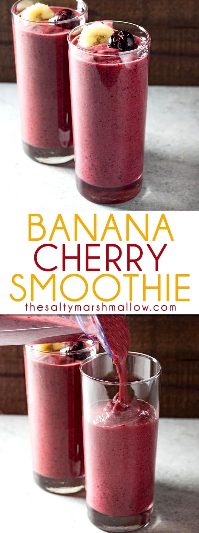 Banana Cherry Smoothie images