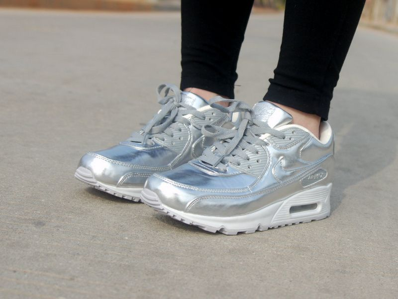 e6f4d5259a49 Nike Air Max 90 PREM Tape Luxury Silver Liquid Metal Lovers 616170 090 shoes  2015