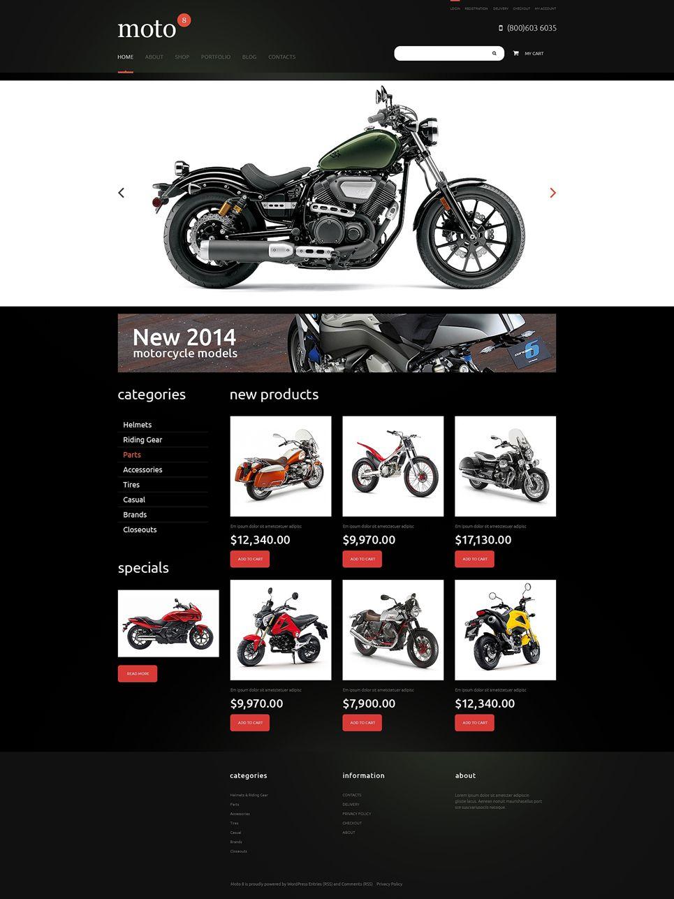 bike shop responsive jigoshop theme | bike shops