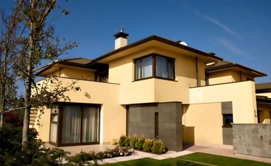 Colores para exteriores 2017 2018 casas pintura for Exteriores de casas modernas