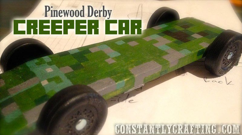 Pinewood Derby Minecraft Creeper Car Pinewood Derby