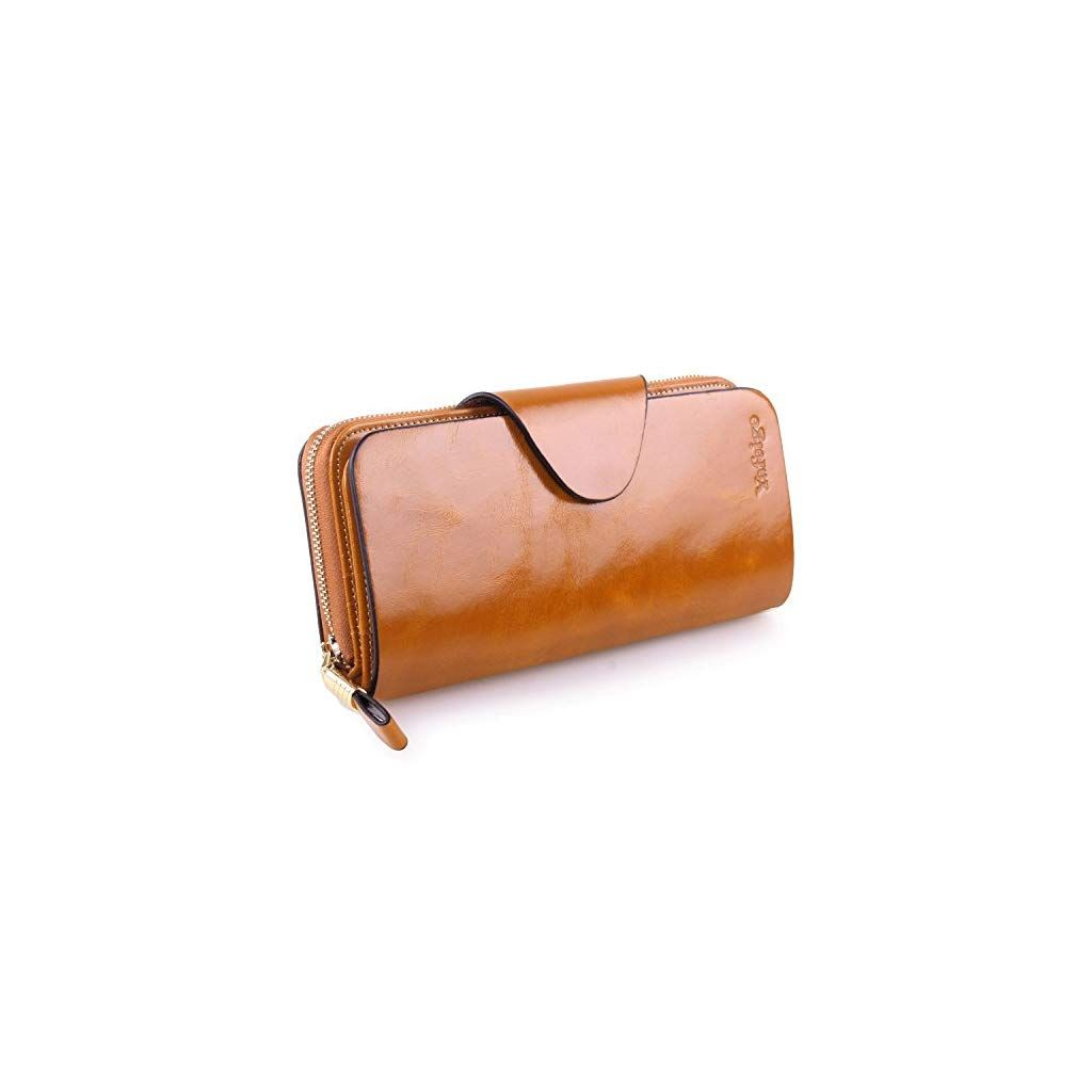 410fcce9e1f Yafeige Large Luxury Women's RFID Blocking Tri-fold Leather Wallet Zipper  Ladies Clutch Purse -