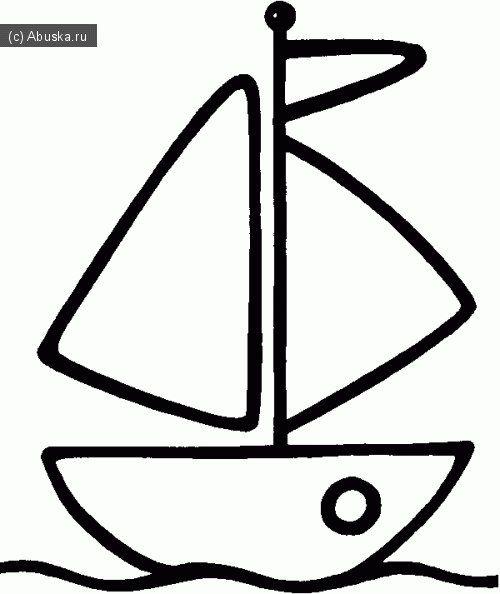 кораблик выкройки аппликаций раскраски рисунки для