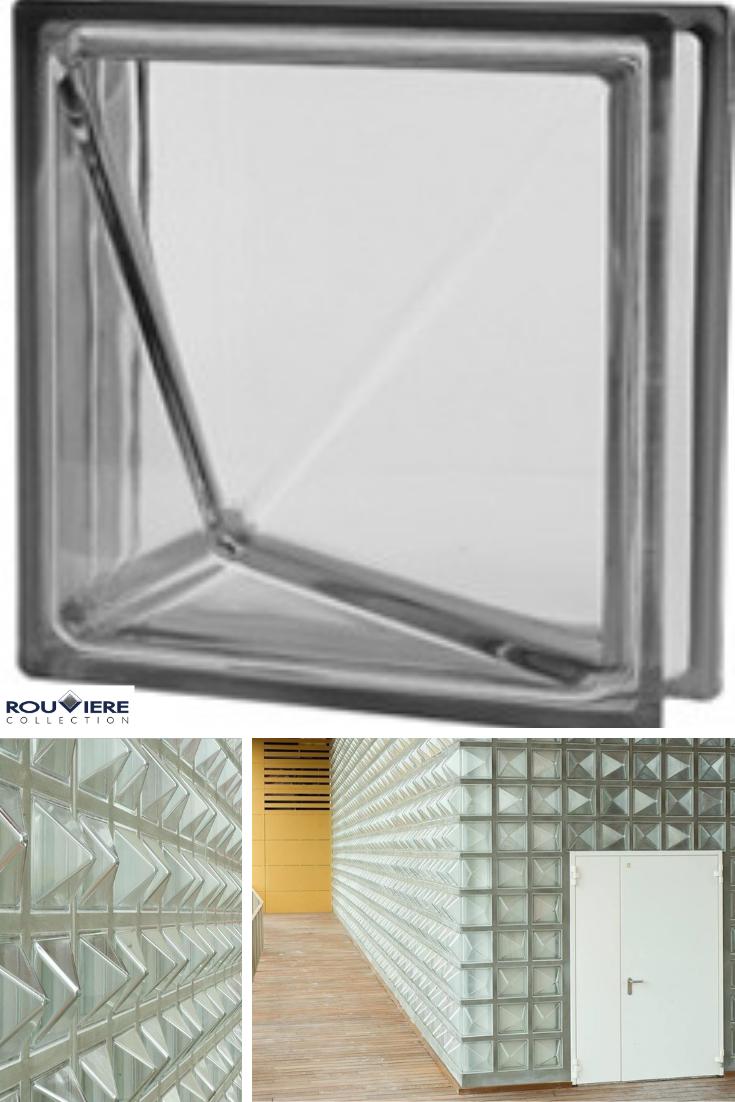 Poesia Brique De Verre brique de verre avec une pointe en relief 3d. création